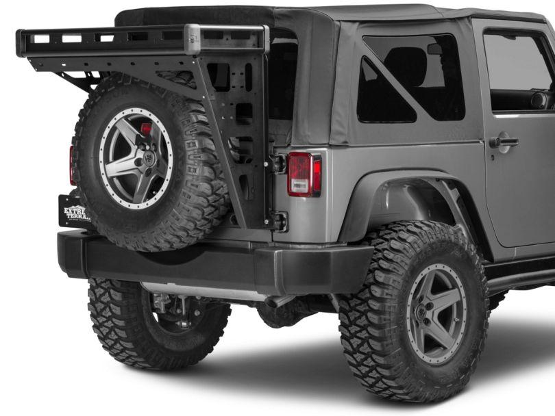 Teraflex Alta Cargo Rack - Black Rails (07-18 Jeep Wrangler JK)