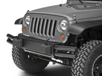 Add Mopar Tubular Front Bumper - Black (07-17 Wrangler JK)
