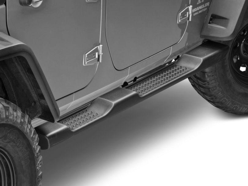 Mopar Factory Style Molded Side Step Bars - Black (07-18 Jeep Wrangler JK 4 Door)