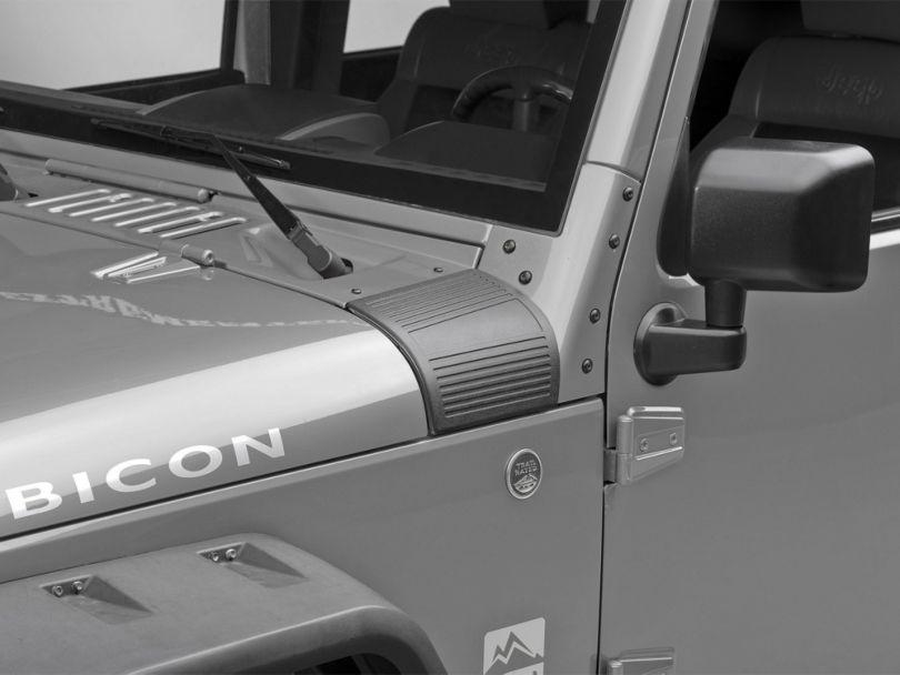 RedRock 4x4 Body Armor Cowl Guards - Black (07-18 Jeep Wrangler JK)