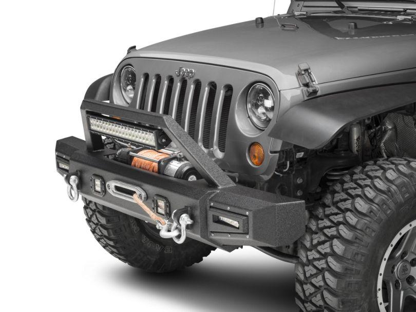 Barricade Vision Series Front Bumper w/ LED Fog Lights, Work Lights & 20 in. LED Light Bar (07-18 Jeep Wrangler JK)