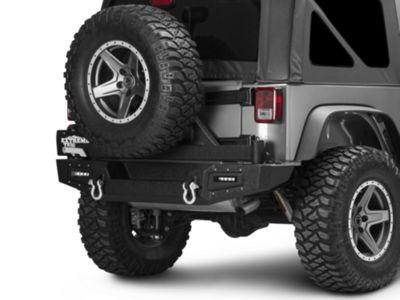 Barricade Vision Series Rear Bumper & Tire Carrier w/ LED Work Lights (07-18 Jeep Wrangler JK)