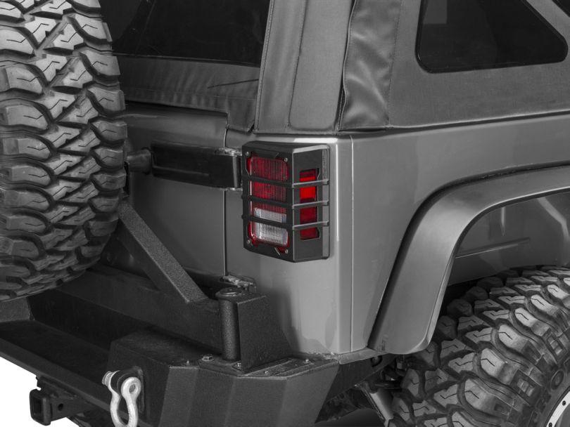 Rugged Ridge Elite Tail Light Guards - Black (07-18 Jeep Wrangler JK)