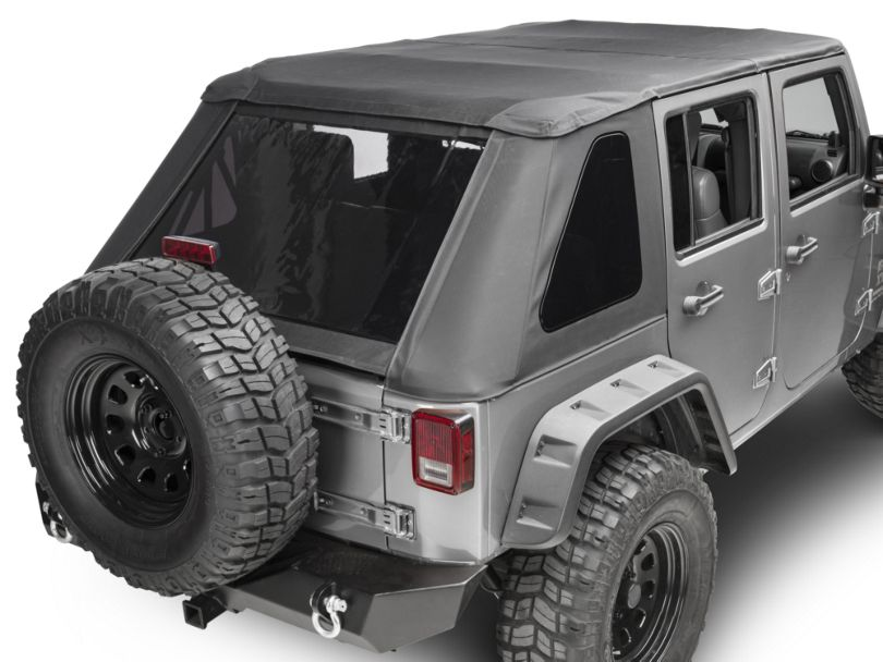 Smittybilt Bowless Protek Combo Soft Top w/ Tinted Windows - Black Diamond (07-18 Jeep Wrangler JK 4 Door)