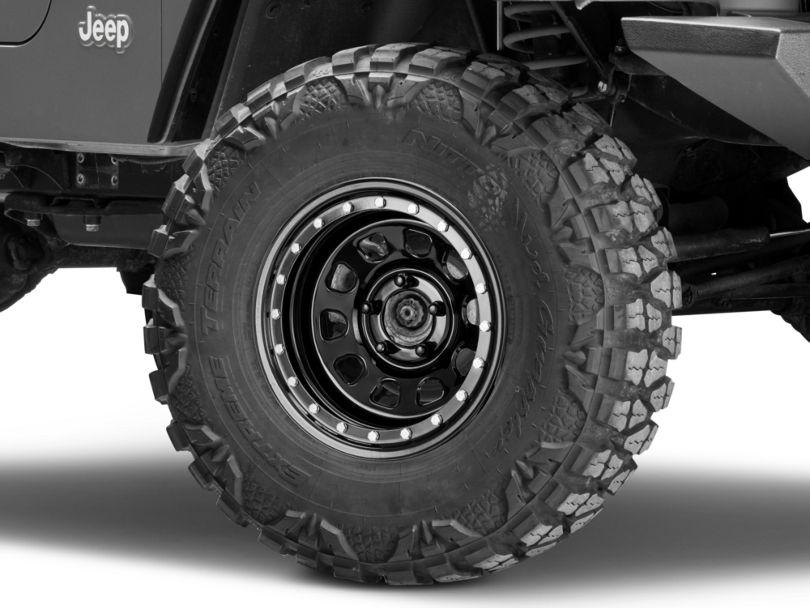 Pro Comp Wheels Steel Series 252 Street Lock Gloss Black Wheel - 15x8 (97-06 Jeep Wrangler TJ)