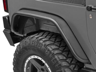 Snyper Rear Tubular Fender Flares - Textured Black (07-18 Jeep Wrangler JK)