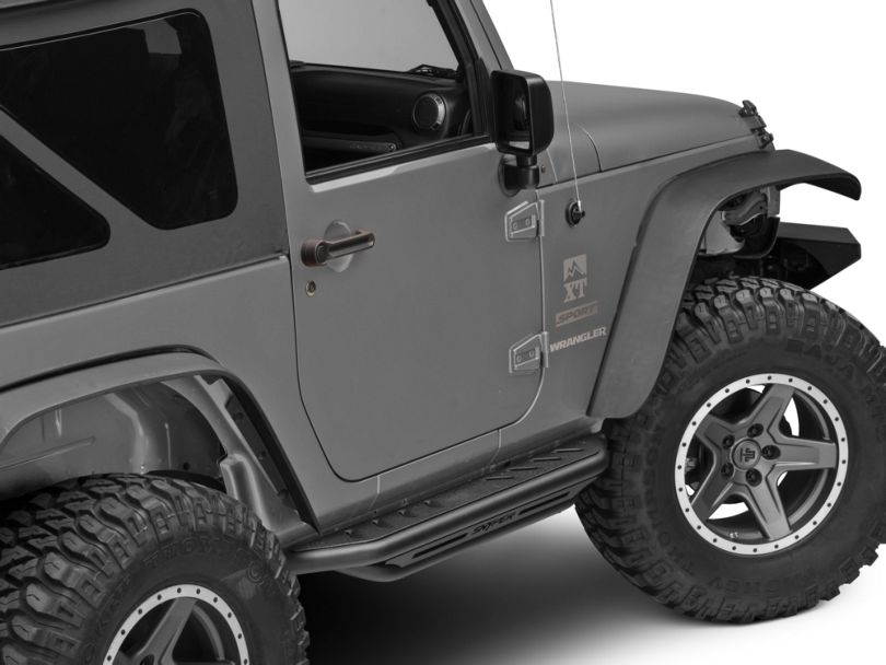 Snyper Triple Tube Rock Rails - Textured Black (07-18 Jeep Wrangler JK 2 Door)