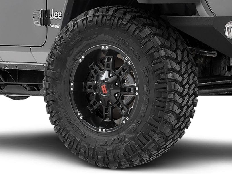 Havok Off-Road H-103 Matte Black Wheel; 17x9 (18-20 Jeep Wrangler JL)
