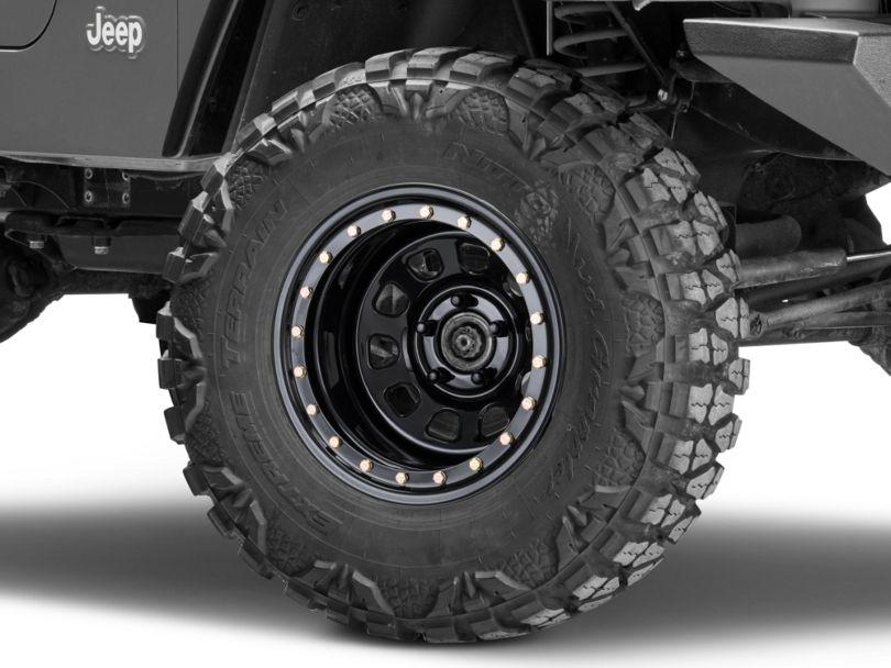 Pro Comp Wheels Steel Series 252 Street Lock Gloss Black Wheel - 15x10 (97-06 Jeep Wrangler TJ)