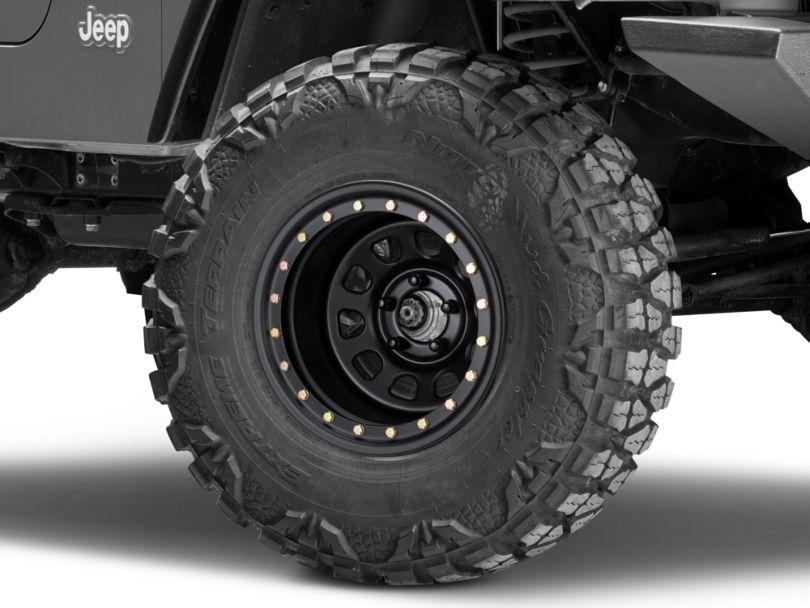 Pro Comp Wheels Steel Series 252 Street Lock Flat Black Wheel; 15x10 (97-06 Jeep Wrangler TJ)
