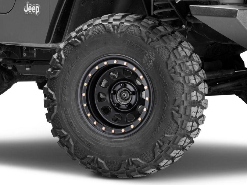 Pro Comp Wheels Steel Series 252 Street Lock Flat Black Wheel - 15x8 (97-06 Jeep Wrangler TJ)