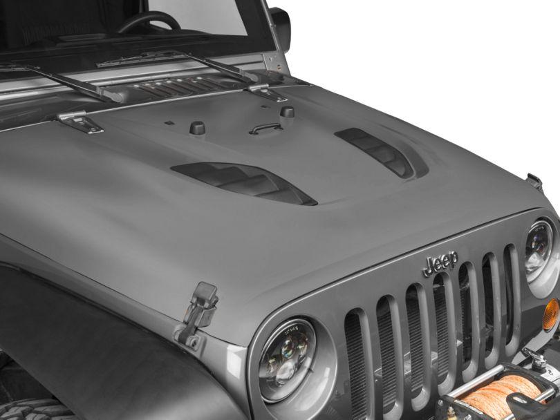 Smittybilt SRC Stingray Vented Hood - Unpainted (07-18 Jeep Wrangler JK)