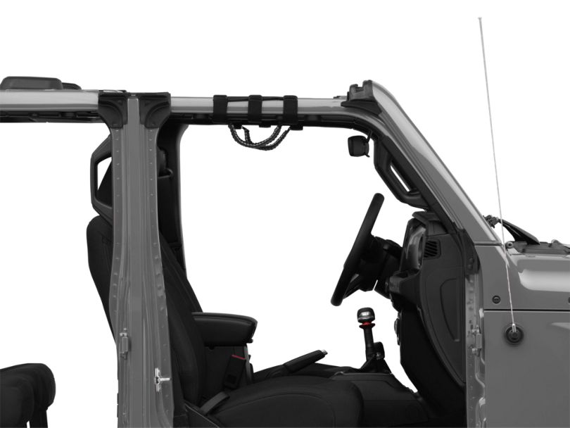 Rugged Ridge Paracord Grab Handles - Gray and Black (87-20 Jeep Wrangler YJ, TJ, JK & JL)