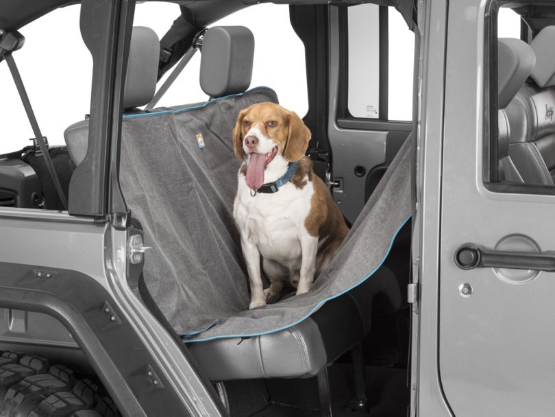 Heather Pattern Dog Hammock; Charcoal (87-20 Jeep Wrangler YJ, TJ, JK & JL)