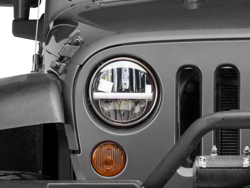 Raxiom 7 in. LED Headlights w/ Horizontal Accent Light (97-18 Jeep Wrangler TJ & JK)