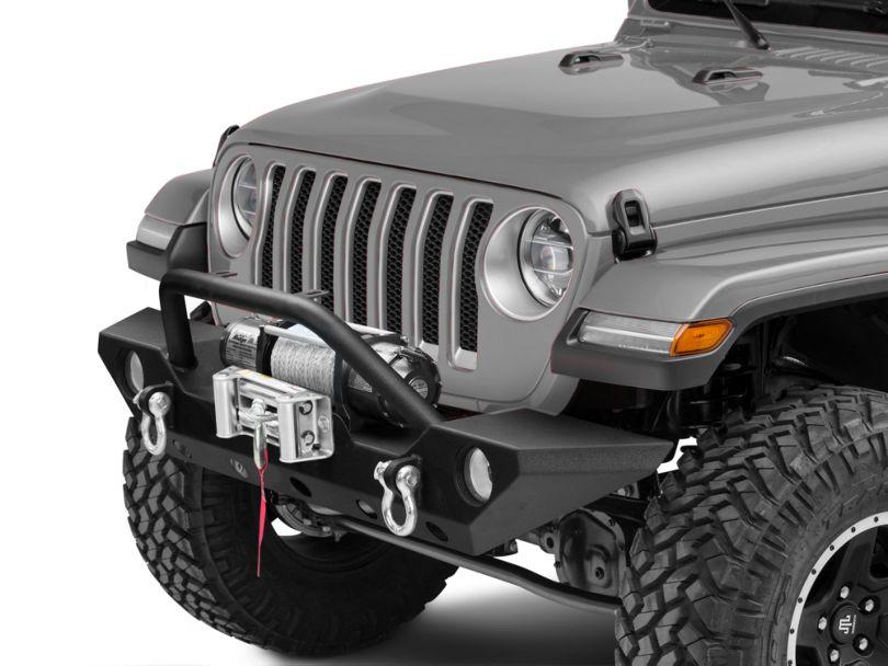Barricade Trail Force HD Front Bumper & 9,500 lb. Winch Combo (18-20 Jeep Wrangler JL)