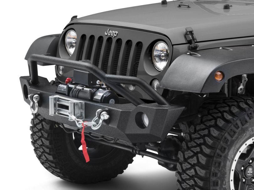 Barricade Extreme HD Front Bumper & 9,500 lb. Winch Combo (07-18 Jeep Wrangler JK)
