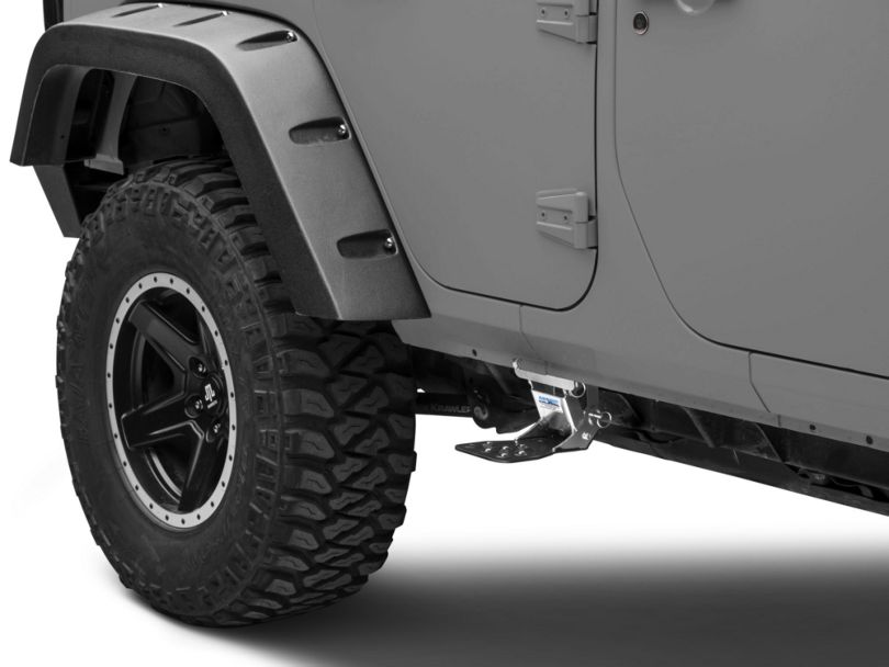 M.O.R.E. Rear Hide-A-Step; Black (07-18 Jeep Wrangler JK 4 Door)