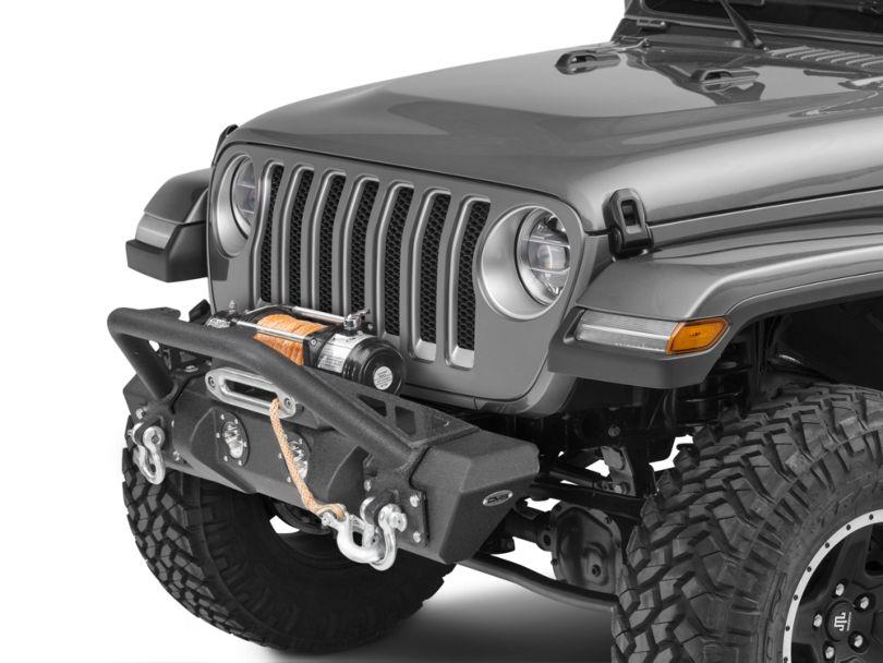 DV8 Offroad FS-11 Steel Mid Width Front Bumper with LED Lights (18-20 Jeep Wrangler JL)