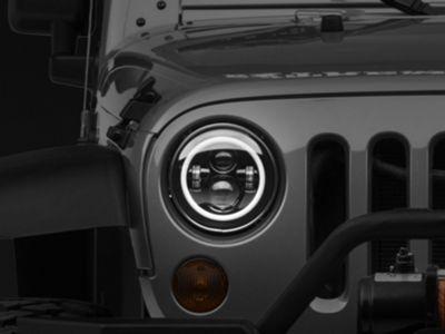DV8 Off-Road LED Projector Headlights w/ Halo (07-18 Jeep Wrangler JK)