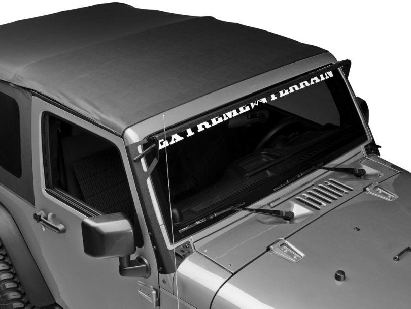 DV8 Offroad Over Windshield Light Bar and Side/Bottom Mounting Bracket (07-18 Jeep Wrangler JK)