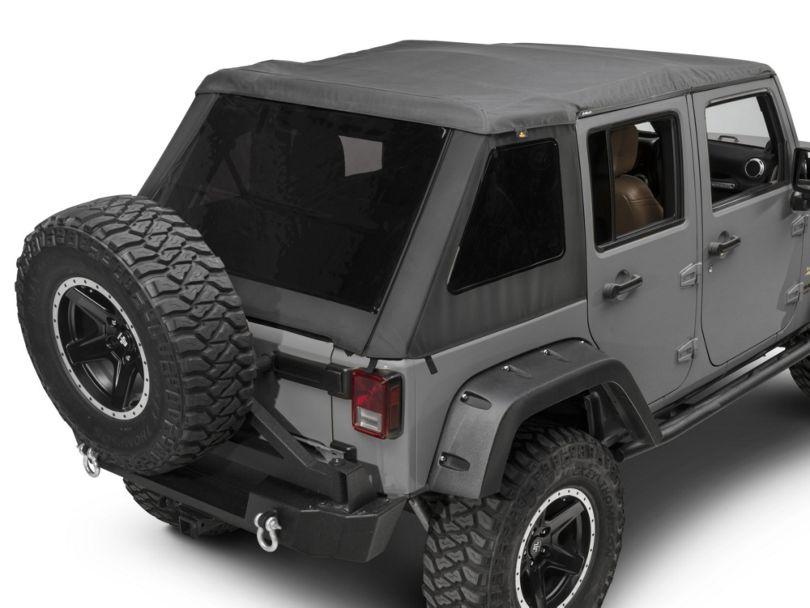 Bestop TrekTop NX Glide Soft Top - Black Diamond (07-18 Jeep Wrangler JK 4 Door)