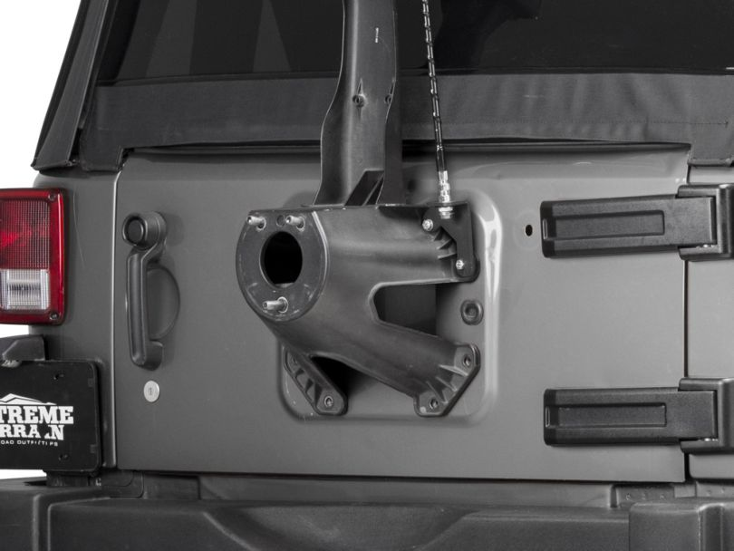 RedRock 4x4 CB Antenna Mount - Textured Black (07-18 Jeep Wrangler JK)