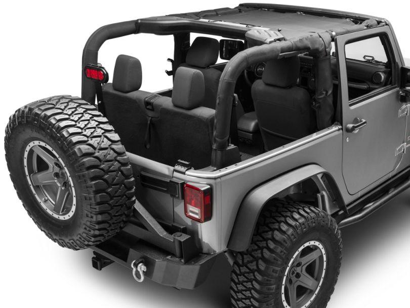 TruShield Front UV Sun Shade - Black (07-18 Jeep Wrangler JK)