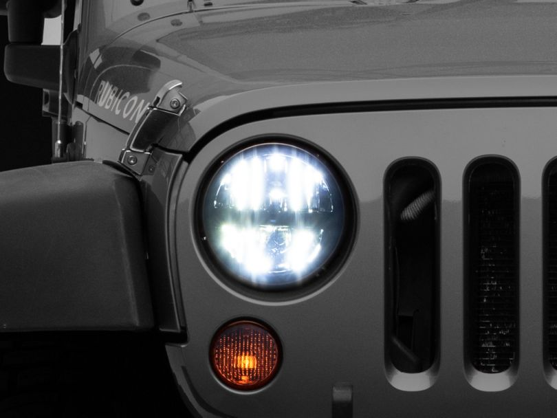Axial LED Headlights with High and Low Beam (97-20 Jeep Wrangler TJ, JK & JL)