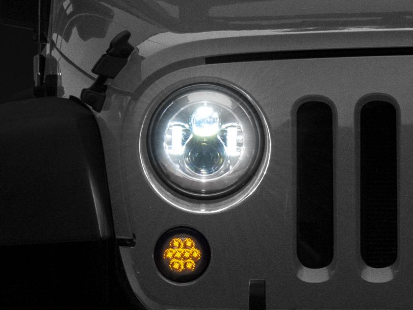 Axial LED Chrome Daymaker Headlights (97-18 Jeep Wrangler TJ & JK)