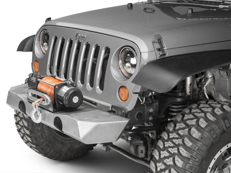 Poison Spyder Brawler Lite Front Bumper; Bare Steel (07-18 Jeep Wrangler JK)