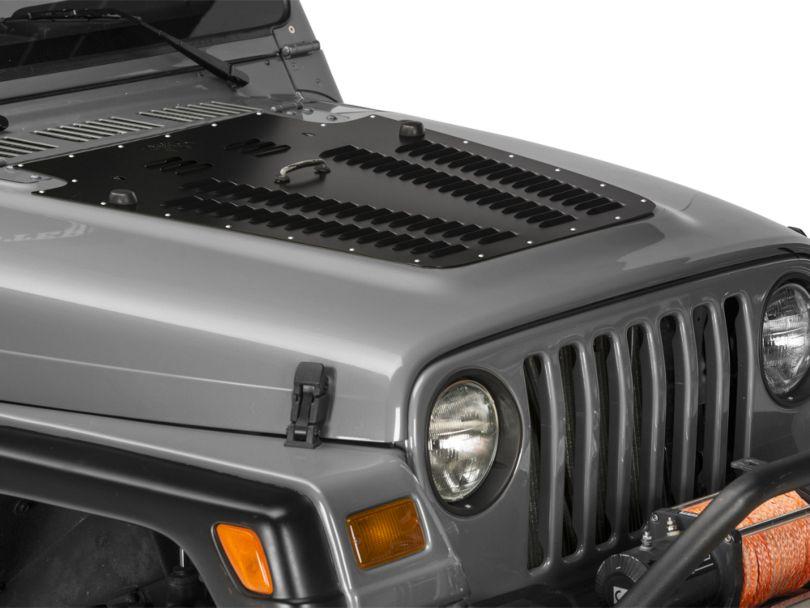 Poison Spyder Hood Louver - Black (97-06 Jeep Wrangler TJ)