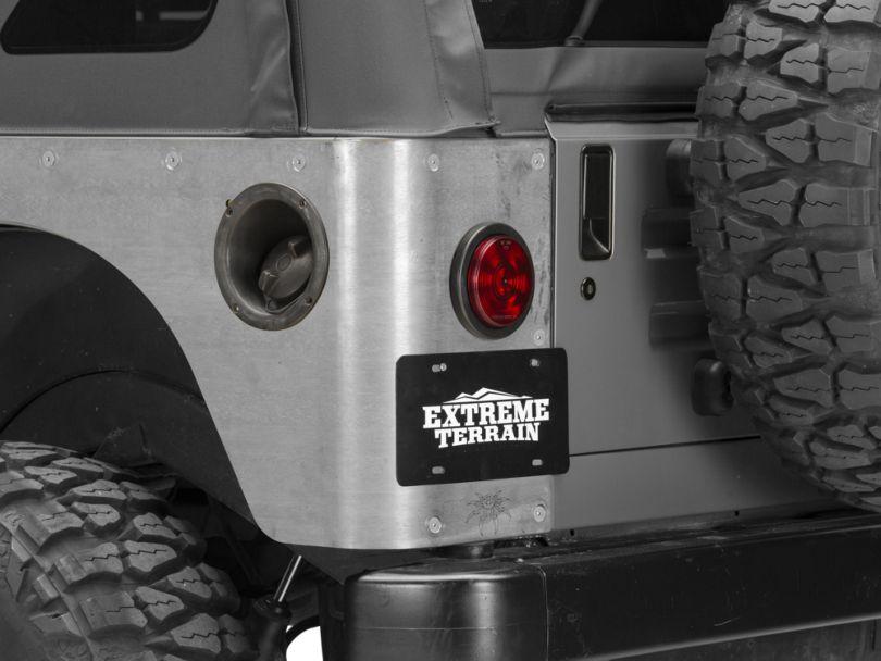 Poison Spyder Standard Crusher Corner Guards - Bare Steel (97-06 Jeep Wrangler TJ)