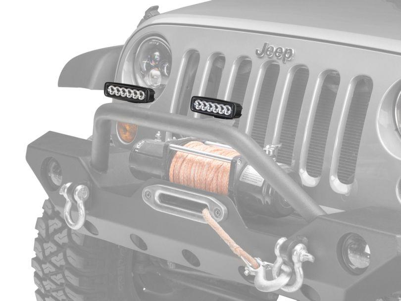 Raxiom 6 in. Slim 6-LED Off-Road Light - Spot Beam (07-20 Jeep Wrangler JK & JL)