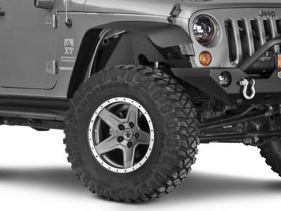 Barricade Front & Rear Aluminum Inner Fender Flares - Textured Black (07-18 Jeep Wrangler JK)