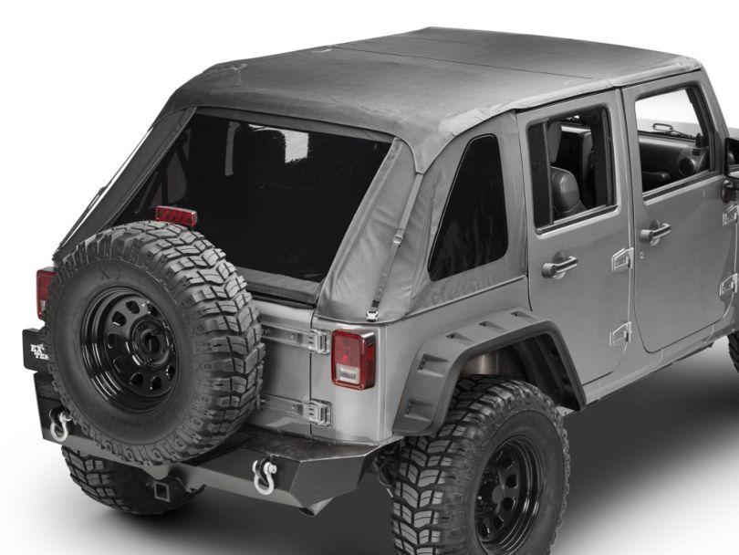 TruShield Fastback 2-in-1 Soft Top - Black Diamond (07-18 Jeep Wrangler JK 4 Door)