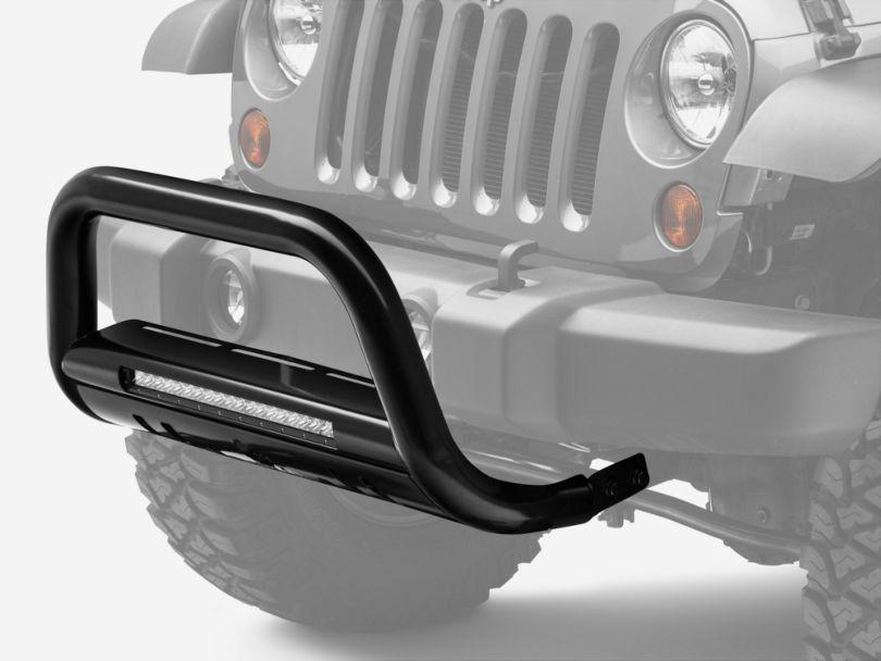 Beacon LED Bull Bar - Black (07-18 Jeep Wrangler JK)