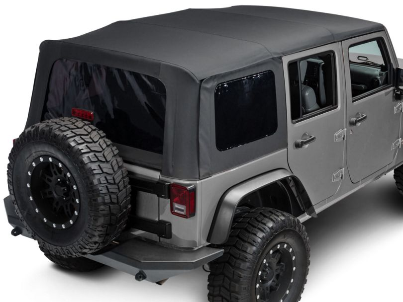 RedRock 4x4 Replacement Soft Top w/ Tinted Windows - Black Diamond (07-18 Jeep Wrangler JK 4 Door)