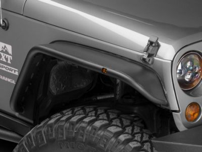 Snyper Front & Rear Tubular Fender Flares - Textured Black (07-18 Jeep Wrangler JK)