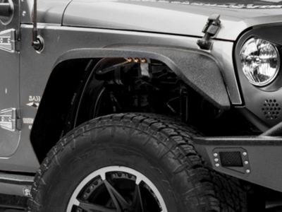 Deegan 38 Fender Flares w/ LED Marker Lights (07-18 Jeep Wrangler JK)