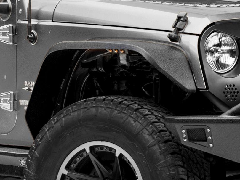 Deegan 38 Fender Flares w/ LED Marker Lights (07-18 Jeep Wrangler JK)