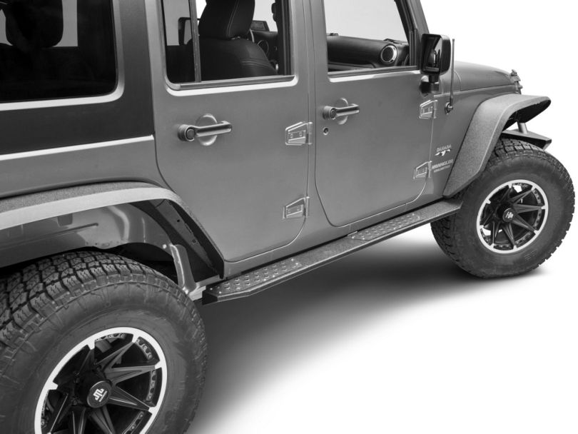 Deegan 38 HD Rock Sliders w/ LED Rock Lights (07-18 Jeep Wrangler JK 4 Door)