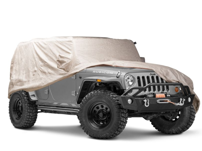 Covercraft Deluxe Custom-Fit Car Cover - Taupe (07-18 Jeep Wrangler JK 4 Door)