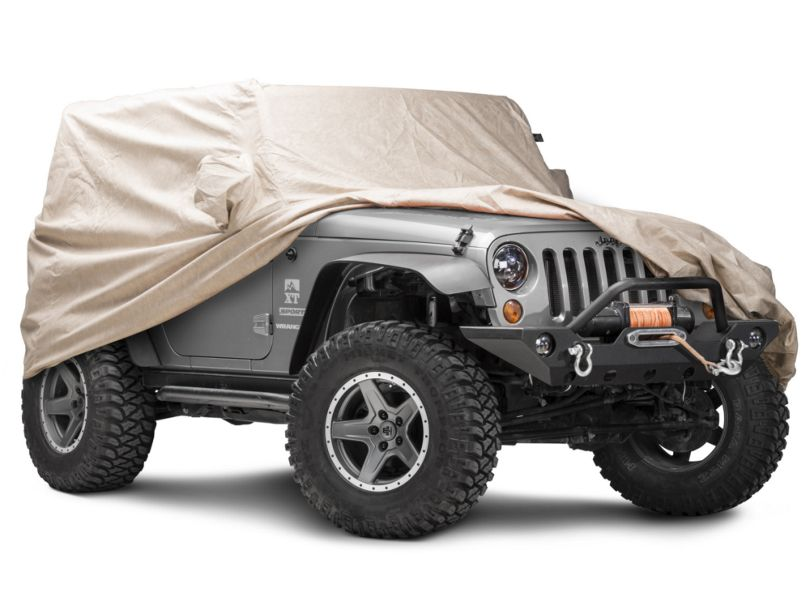 Covercraft Deluxe Custom-Fit Car Cover - Taupe (07-18 Jeep Wrangler JK 2 Door)