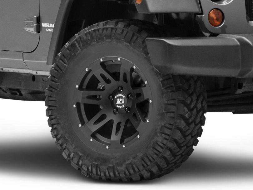 Rugged Ridge XHD Satin Black Wheel with Black Center Cap; 17x9 (07-18 Jeep Wrangler JK)