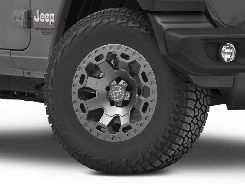 Black Rhino Warlord Matte Gunmetal Wheel - 17x9 (18-20 Jeep Wrangler JL)
