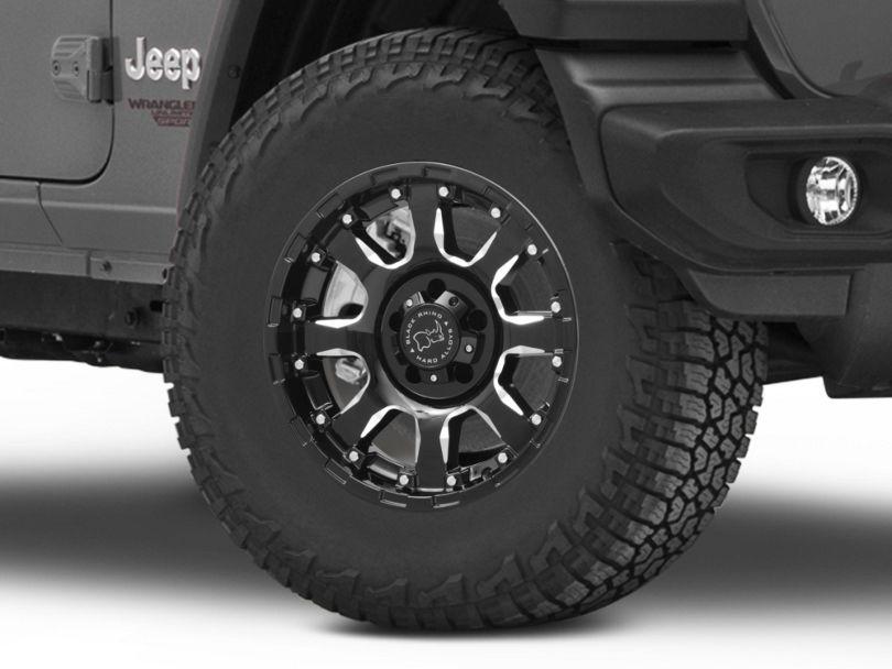 Black Rhino Sierra Gloss Black Wheel - 17x9 (18-20 Jeep Wrangler JL)