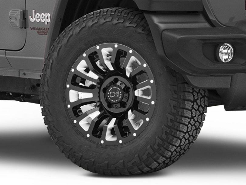 Black Rhino Pinatubo Gloss Black Wheel; 18x9.5 (18-20 Jeep Wrangler JL)