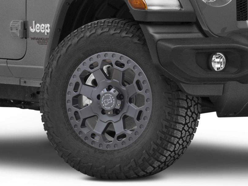 Black Rhino Warlord Matte Gunmetal Wheel; 18x8 (18-20 Jeep Wrangler JL)