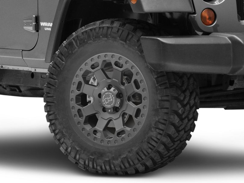 Black Rhino Warlord Matte Gunmetal Wheel; 18x8 (07-18 Jeep Wrangler JK)